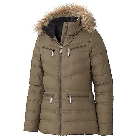 On Sale. Free Shipping. Marmot Women's Gramercy Jacket DECENT FEATURES of the Marmot Women's Gramercy Jacket Zip-off Down Filled Hood with Removable Fur Ruff 700 Fill Power Down with Down Defender Zippered Chest Pockets Zippered Hand Pockets Internal Drop Pocket Internal Fleece Cuff Elastic Bound Cuffs The SPECS Weight: 1 lb 3.7 oz / 558.5 g Center Back Length: 25.5in. Fit: Regular 100% Polyester DWR 1.8 oz/yd - $205.99