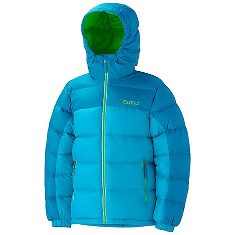 Free Shipping. Marmot Girls' Guides Down Hoody DECENT FEATURES of the Marmot Girls' Guides Down Hoody 650 Goose Down Fill Power Zippered Handwarmer Pockets Elastic Cuffs Wind Flap Behind Front Zipper Angel-Wing Movement Regular Fit The SPECS Weight: 0 lbs 15.8 oz (447.9 g) Materials: 100% Polyester Ripstop DWR 1.6 oz/yd Center Back Length: 24.25 inches - $134.95