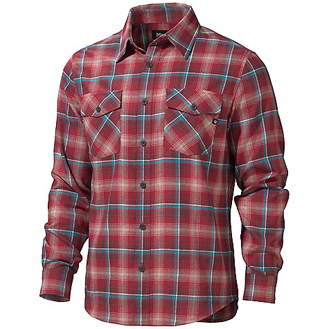 On Sale. Free Shipping. Marmot Men's Mendocino Flannel LS DECENT FEATURES of the Marmot Men's Mendocino Flannel Long Sleeve Soft, Comfortable, Mid-Weight Performance Woven Fabric with Twill Texture Technical Hollowcore Flannel for Durability and Thermal Properties Without the Weight Merino Wool for Natural Warmth Ultraviolet Protection Factor (UPF) 50 Quick-Drying and Wicking Durable Flat Felled Seams with Contrast Interior Stitch Shirt Tail Hem Double Chest Pockets and Back Yoke on Bias The SPECS Weight: 13.7 oz / 388.4 g Fit: Regular Material: 93% Hollow Core Polyester 7% Merino Wool Flannel 5.5 oz/ yd - $61.99