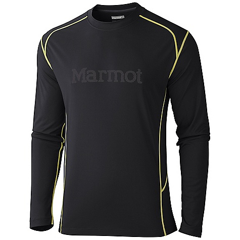 Marmot Men's Windridge with Graphic LS Shirt DECENT FEATURES of the Marmot Men's Windridge with Graphic Long Sleeve Shirt Soft, Breathable, Light Weight Performance Knit Fabric Ultraviolet Protection Factor (UPF) 50 Quick-Drying and Wicking Contrast Flat - Locked Seams for Added Comfort Mesh Panels for Breathability Center Front Graphic Logo Tag-Free Neckline Reflective Logos The SPECS Weight: 13.4 oz / 379.9 g Fit: Semi-Fitted Material: 100% Polyester Jersey 4 oz/yd, 100% Polyester Mesh 3.0 oz/yd - $39.95