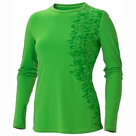 Free Shipping. Marmot Women's Kaley LS DECENT FEATURES of the Marmot Women's Kaley Long Sleeve Soft, Comfortable, Lightweight Performance Knit Fabric Ultraviolet Protection Factor (UPF) 30 Dri-Release for Permanent Moisture Wicking and Quick - Drying Properties Fresh Guard Finish for Odor Control Flat-Locked Seams for Added Comfort Crew Neck Novelty Screen Print and Embroidery Tag- Free Neckline The SPECS Weight: 5.5 oz / 155.9 g Material: Dri-release Tencel 83% Polyester, 11% Tencel/lyocell,6% Elastane 5.0 oz/yd Fit: Regular - $49.95