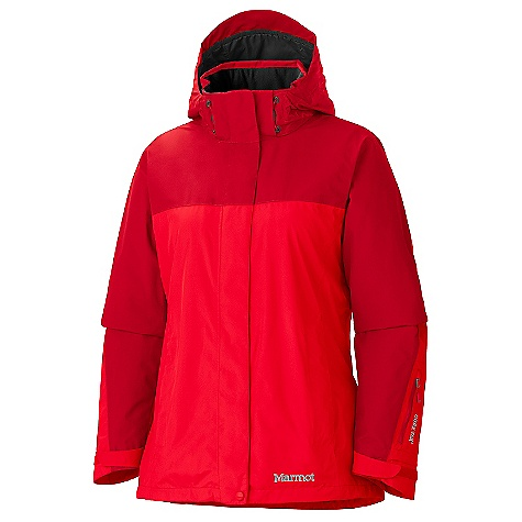 Free Shipping. Marmot Women's Palisades Jacket DECENT FEATURES of the Marmot Women's Palisades Jacket Gore-Tex Fabric. Guaranteed to Keep You Dry 100% seam taped 2-layer construction Removable Storm Hood with Laminated Brim PitZips Zippered Hand Pockets W rist Pocket with Water-Resistant Zipper Zip-off Powder Skirt Internal Zip Pocket Paneled Mesh Lining Zippin Compatible DriClime Lined Chin Guard Elastic Draw Cord Hem Angel-Wing Movement The SPECS Weight 1 lb 11.5 oz / 779.6 g Material: Gore-Tex Performance 2L 100% Polyester 3.5 oz/yd Center Back Length: 28in. Fit: Regular - $299.95