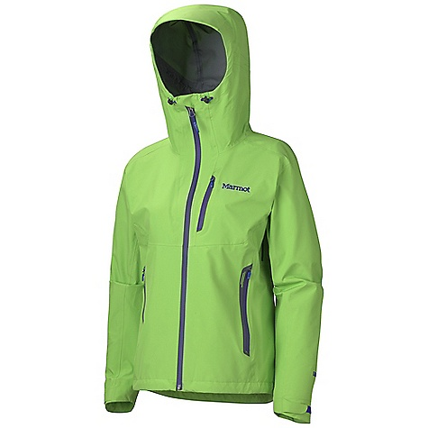 Free Shipping. Marmot Women's Speedlight Jacket DECENT FEATURES of the Marmot Women's Speedlight Jacket Gore-Tex Pro 3 Layer Micro-Stitched and 100% Seam Taped Helmet Compatible Gale-Force Hood with Laminated Wire Brim PitZips with Water Resistant Zippers Hand Pockets with Water Resistant Zipper Chest Pockets with Water Resistant Zips Asymmetric Cuffs with Velcro Adjustment Elastic Draw Cord Hem Angel-Wing Movement The SPECS Weight: 10.9 oz / 309 g Material: Gore-Tex Pro Products 3L 100% Nylon Ripstop 3.1 oz/yd Center Back Length: 27in. Fit: Athletic - $424.95