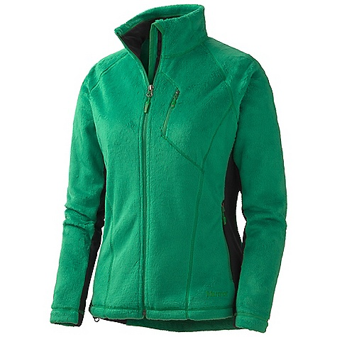 On Sale. Free Shipping. Marmot Women's Solar Flair Jacket DECENT FEATURES of the Marmot Women's Solar Flair Jacket High Loft Fleece Body Polartec Power Stretch Side Panels and Under Arms Zippered Chest Pocket Zippered Handwarmer Pockets Polartec Power Stretch Cuffs Wind Flap Behind Front Zipper with Chin Guard Elastic Draw Cord Hem Angel-Wing Movement The SPECS Weight: 10 oz / 283.5 g Material: 100% Polyester Raschel Fleece 9.5 oz/yd, PolartecPower Stretch 88% Polyester,12% Elastane 6.8 oz/yd Center Back Length: 26.25in. Fit: Regular - $93.99