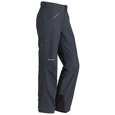 Free Shipping. Marmot Women's Palisades Pant DECENT FEATURES of the Marmot Women's Palisades Pant Gore-Tex Fabric. Guaranteed to Keep You Dry 100% seam taped 2-layer construction Hand Pockets with Water Resistant Zipper Cargo Pocket with Water Resistant Zipper Adjustable Waist with Snap Closure and Zip Fly Cordura Scuff Guard Anatomic Articulation Zones Internal Gaiters with Gripper Elastic Ankle Zippers The SPECS Weight 1 lb 2.7 oz / 530.1 g Material: Gore-Tex Products 2L 100% Polyester 3.4 oz/yd Fit: Regular - $199.95