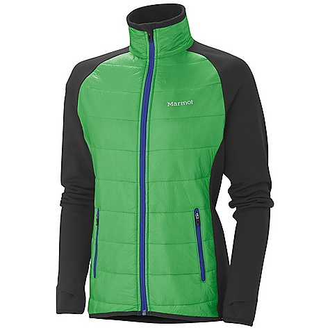 Free Shipping. Marmot Women's Variant Jacket DECENT FEATURES of the Marmot Women's Variant Jacket Thermal R Insulation Polartec Power Stretch Panels at Side Torso, Sleeves and Back Thumbholes Lightweight Stretch Binding at Cuffs and Bottom Hem Front Hand Zip Pockets, Reflective Logos The SPECS Weight: 10.4 oz / 294.8 g Center Back Length: 25.5in. Fit: Athletic 100% Nylon Double Rip 0.9 oz/yd PolartecPower Stretch 88% Polyester 12% Elastane 6.8 oz/yd - $169.95