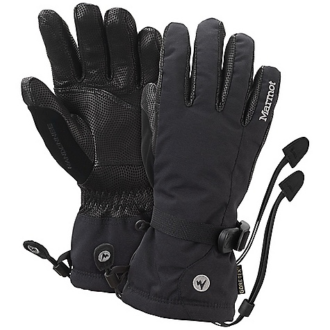 Free Shipping. Marmot Women's Randonnee Glove DECENT FEATURES of the Marmot Women's Randonnee Glove Gore XCR Performance Gore-Tex Waterproof / Breathable Glove Insert Dri-Clime Bi-Component Wicking Lining Marmot MemBrain Waterproof / Breathable Fabric Nose wipe Gauntlet Quickdraw Falcon Grip Wrist Strap Safety Leash The SPECS Weight: 7.2 oz / 204 g Reinforcement: Washable Digital Hairsheep Leather 0.5 - 0.6mm Lining: Dri-Clime 3-Dimentional Wicking Lining Insulation: Thermal R Glove Insert: Gore-TexGlove Insert - Durably Waterproof, Windproof and Breathable MemBrain 2L 100% Nylon 4.4 oz/yd - $99.95