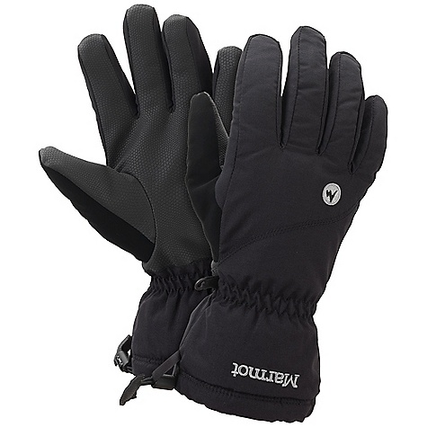 Marmot Women's On-Piste Glove DECENT FEATURES of the Marmot Women's On - Piste Glove Marmot MemBrain Waterproof / Breathable Insert Wrist Tightening Elastic and Gauntlet Drawcord to Keep Snow Out Falcon Grip Nose wipe The SPECS Weight: 5.4 oz / 152 g Reinforcement: GripTec Polyurethane Reinforcement Lining: Dri-Clime 3-Dimentional Wicking Lining Insulation: Thermal R Glove Insert: MemBrain Glove Insert - Waterproof, Breathable and Windproof 320d 100% Nylon 3.7 oz/yd - $44.95