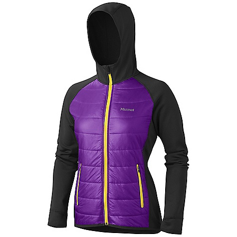 On Sale. Free Shipping. Marmot Women's Variant Hoody DECENT FEATURES of the Marmot Women's Variant Hoody Thermal R Insulation Polartec Power Stretch Sleeves, Back, and Hood Zip Hand Pockets Thumbholes Lightweight Stretch Binding at Cuffs and Bottom Hem Angel- Wing Movement The SPECS Fit: Athletic 100% Nylon Double Rip 0.9 oz/yd PolartecPower Stretch 88% Polyester 12% Elastane 6.8 oz/yd - $137.99