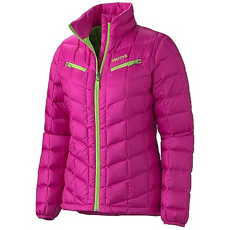Free Shipping. Marmot Women's Safire Jacket DECENT FEATURES of the Marmot Women's Safire Jacket 700 Fill Power Down with Down Defender Zippered Chest Pockets Reverse Coil Center Front Zip with Windflap Behind Elastic Bound Cuffs The SPECS Weight: 15.2 oz / 430.9 g Center Back Length: 26.25in. Fit: Regular 100% Recycled Polyester 1.6 oz/yd - $164.95