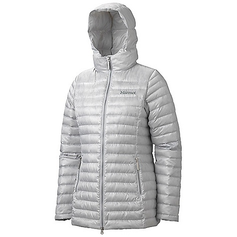 Free Shipping. Marmot Women's Verona Jacket DECENT FEATURES of the Marmot Women's Verona Jacket Ultralight Down-proof Fabric 800 Fill Power Goose Down Attached Hood M id- Thigh Length Zip Hand Pockets Internal Zip Pocket Internal Fleece Cuff Elastic Bound Cuffs The SPECS Weight: 1 lb 1 oz / 481.9 g Material: 100% Polyester DWR Ripstop 1.2 oz/yd Center Back Length: 28in. Fit: Regular - $249.95