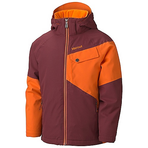 On Sale. Free Shipping. Marmot Boys' Mantra Jacket DECENT FEATURES of the Marmot Boys' Mantra Jacket Marmot MemBrain Waterproof/Breathable Fabric Zippered Handwarmer Pockets Chest Pocket Powder Skirt Internal Velcro Pocket Brushed Tricot Collar and Shoulder Lining Angel-Wing Movement The SPECS Weight: 1 lb 2 oz / 510.3 g Center Back Length: 21.5in. Fit: Regular MemBrain 10 2L 100% Polyester 4.1 oz/yd - $93.99