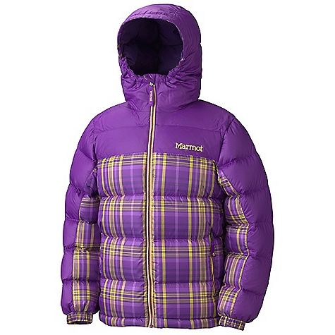 Free Shipping. Marmot Girls' Guides Down Hoody - Plaid DECENT FEATURES of the Marmot Girls' Guides Down Hoody - Plaid 700 Fill Power Down with Down Defender Zippered Handwarmer Pockets Elastic Cuffs Wind Flap Behind Front Zipper Angel-Wing Movement The SPECS Weight: 15.8 oz / 447.9 g Center Back Length: 24.3in. Fit: Regular 100% Polyester Plaid 2.0 oz/yd 100% Polyester Ripstop DWR 1.6 oz/yd - $144.95