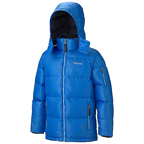 On Sale. Free Shipping. Marmot Boys' Stockholm Jacket DECENT FEATURES of the Marmot Boys' Stockholm Jacket Lightweight High Cire Down Proof Fabric Zip-Off Hood Exposed5 Vislon Center Front Zipper Handpocket with Exposed5 Vislon Zippers Sleeve Pocket with5 Vislon Zipper Elastic Draw Cord Hem Inside Pocket with Velcro Micro Fleece Internal Cuffs Brushed Tricot Interior Collar The SPECS Weight: 9.7 oz / 275 g Center Back Length: 23.25in. Fit: Regular 100% Nylon Shiny Plain Weave 1.2 oz/yd - $106.99