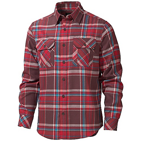 On Sale. Free Shipping. Marmot Men's Doran Flannel LS Shirt DECENT FEATURES of the Marmot Men's Doran Flannel Long Sleeve Shirt Soft, Comfortable, Mid-Weight Performance Woven Fabric with Twill Texture Technical Hollowcore Flannel for Durability and Thermal Properties Without the Weight Merino Wool for Natural Warmth Ultraviolet Protection Factor (UPF) 50 Quick-Drying and Wicking Durable Flat Felled Seams with Contrast Interior Stitch Shirt Tail Hem Double Chest Pockets and Back Yoke on Bias The SPECS Weight: 13.2 oz / 374.2 g Fit: Regular Material: 93% Hollow Core Polyester 7% Merino Wool Flannel 5.5 oz/ yd - $71.96
