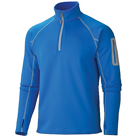 Free Shipping. Marmot Men's Power Stretch 1-2 Zip DECENT FEATURES of the Marmot Men's Power Stretch 1/2 Zip Polartec Power Stretch Flat Lock Construction Zip Sleeve Pocket Elastic Bound Cuffs with Thumb Holes Elastic Draw Cord Hem The SPECS Fit: Athletic Polartec Power Stretch 91% Polyester 9% Elastane 5.9 oz/yd - $109.95