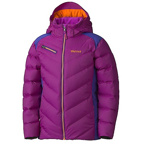 On Sale. Free Shipping. Marmot Girls' Starstruck Jacket DECENT FEATURES of the Marmot Girls' Starstruck Jacket Marmot MemBrain Waterproof/Breathable Fabric 650 Goose Down Fill Power Reinforced Shoulders and Elbows Zip-off Storm Hood with Bonded Brim Hand warmer Pockets with Riri Water Resistant Zippers Chest Pocket with Riri Water Resistant Zipper Zip-off Powder Skirt Zippered Sunglass Pocket Mesh Goggle Pocket HD Brushed Tricot Collar Lining Micro Fleece Internal Cuffs Elastic Draw Cord Hem Adjustable Velcro Cuff Angel-Wing Movement The SPECS Weight: 1 lb 5 oz / 595.3 g Material: MemBrain 10 2L 100% Polyester 4.1 oz/yd, MemBrain 2L 100% Nylon 3.0 oz/yd Fit: Regular - $107.99
