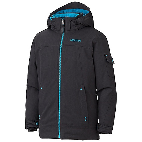 Free Shipping. Marmot Girls' Slopeside Jacket DECENT FEATURES of the Marmot Girls' Slopeside Jacket Marmot MemBrain Waterproof/Breathable Fabric 100% seam taped 2-layer construction Zip-off Storm Hood with Laminated Brim Thermal R Insulation Exposed Water Resistant Center Front Zipper Hand warmer Pockets with Water Resistant Zipper Flapped Cargo Pocket Sleeve Pocket with Water-Resistant Zipper Flapped Sleeve Pockets Adjustable Velcro Cuff Zip-off Powder Skirt Zippered Sunglass Pocket Goggle pocket HD Brushed Tricot Collar and Shoulder Lining Elastic Draw Cord Hem Angel-Wing Movement The SPECS Weight: 1 lb 10 oz / 737.1 g Material: MemBrain 10 2L 100% Polyester Heringbone 5.4 oz/yd Fit: Regular - $144.95