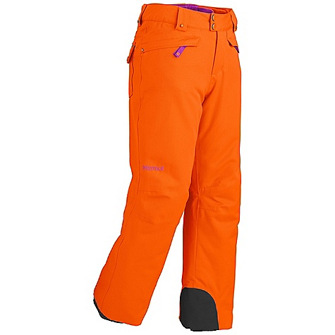 Free Shipping. Marmot Girls' Skyline Pant DECENT FEATURES of the Marmot Girls' Skyline Pant Marmot MemBrain Waterproof/Breathable Fabric 100% seam taped 2-layer construction Hand Pockets with Water Resistant Zipper Zippered Cargo Pockets Zippered Leg Vents HD Brushed Tricot Lined Waist with Snap Closure and Zip Fly Reversed Brushed Tricot Seat and Thighs Articulated Knees Zip Leg Cuffs with Internal Flex Boot Gaiter Cordura Scuff Guard The SPECS Weight: 1 lb 5 oz / 595.3 g Material: MemBrain 10 2L 100% Polyester Heringbone 5.4 oz/yd Fit: Regular - $94.95