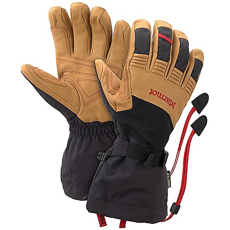 Ski On Sale. Free Shipping. Marmot Ultimate Ski Glove DECENT FEATURES of the Marmot Ultimate Ski Glove Gore-Tex Waterproof/Breathable Glove Insert with Active Shell Technology Marmot MemBrain Waterproof/Breathable Fabric Wrist Strap and Gauntlet Drawcord to Keep Snow Out Primaloft Insulation Carabiner Loop To Hang Gloves and Keep Out the Elements DriClime Bi-Component Wicking Lining Safety Leash Updated Design Nose wipe The SPECS Weight: Large: 8.8 oz / 250 g Material: 100% Nylon 7.4 oz/yd with DWR Reinforcement: Washable Cowhide Leather 0.8 - 1.0mm Lining: DriClime 3-Dimentional Wicking Lining Insulation: Primaloft One - Patented Synthetic Down, Low Bulk, Warm, Water Repellent Glove Insert: Gore-Tex Glove Insert-Durably Waterproof, Windproof and Breathable - $130.99