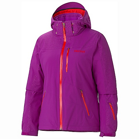 Entertainment On Sale. Free Shipping. Marmot Women's Arcs Jacket DECENT FEATURES of the Marmot Women's Arcs Jacket Marmot MemBrain Waterproof/Breathable Fabric Unique Embossed Pattern 100% seam taped 2-layer construction Thermal R Insulation Zip-off Storm Hood with Laminated Brim PitZips Water Resistant Front Zippers Handwarmer Pockets with Water Resistant Zipper Chest Pocket with Water-Resistant Zipper Sleeve Pocket with Water-Resistant Zipper Zip-off Powder Skirt Zippered Sunglasses/ Electronics Pocket Inside Mesh Goggle Pocket HD Brushed Tricot Collar Lining Elastic Draw Cord Hem Adjustable Velcro Cuff Angel- Wing Movement The SPECS Weight: 1 lb 14.3 oz / 859 g Material: MemBrain 2L 100% Nylon Plain Weave 4.0oz/yd, MemBrain 2L 100% Nylon PlainWeave Emboss 12 4.0 oz/yd Center Back Length: 26in. Fit: Regular - $194.99