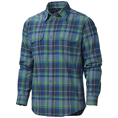 Free Shipping. Marmot Men's Bowls Flannel LS Shirt DECENT FEATURES of the Marmot Men's Bowls Flannel Long Sleeve Shirt Soft, Comfortable, Mid - Weight Performance Woven Fabric with Herringbone Texture Technical Hollowcore Flannel for Durability and Thermal Properties Without the Weight Ultraviolet Protection Factor (UPF) 50 Quick-Drying and Wicking Durable Flat Felled Seams with Contrast Interior Stitch Shirt Tail Hem and Double Chest Pockets with Button Closure The SPECS Weight: 11.4 oz / 323.2 g Fit: Regular Material: 100% Hollow Core Polyester Herringbone Flannel 5.3 oz/ yd - $74.95