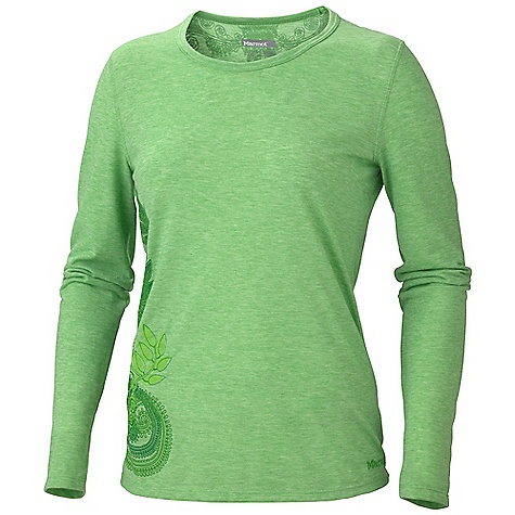Free Shipping. Marmot Women's Sophia LS DECENT FEATURES of the Marmot Women's Sophia Long Sleeve Soft, Comfortable, Lightweight Performance Knit Fabric Ultraviolet Protection Factor (UPF) 30 Dri-Release for Permanent Moisture Wicking and Quick - Drying Properties Fresh Guard Finish for Odor Control Crew Neck Novelty Screen Print and Embroidery Tag- Free Neckline Regular The SPECS Weight: 5.3 oz / 150.3 g Material: Dri-release Cotton 85% Polyester,15% Cotton 4.5 oz/yd Fit: Regular - $49.95
