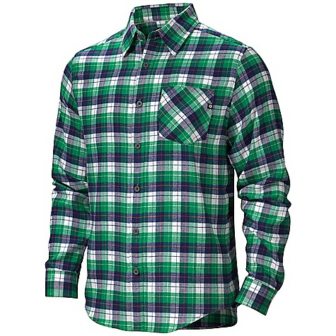 On Sale. Free Shipping. Marmot Men's San Onofre Flannel LS DECENT FEATURES of the Marmot Men's San Onofre Flannel Long Sleeve Soft, Comfortable, Light-Weight Performance Woven Fabric with Twill Texture Coolmax for Moisture Management Ultraviolet Protection Factor (UPF) 30 Quick- Drying and Wicking Durable Flat Felled Seams with Contrast Interior Stitch Shirt Tail Hem Single Chest Pocket and Back Yoke on Bias The SPECS Weight: 11.55 oz / 327.4 g Fit: Semi-Fitted Material: 52% Cotton, 48% Coolmax Flannel 3.8 oz/yd - $54.99