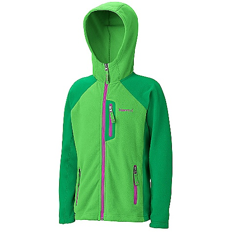 Free Shipping. Marmot Girls' Sasha Hoody DECENT FEATURES of the Marmot Girls' Sasha Hoody Polyester Fleece with Soft Hand Reverse Coil Front Zipper Flat Lock Seam Construction The SPECS Weight: 5.3 oz / 150.3 g Center Back Length: 21in. Fit: Regular 100% Polyester Velour Fleece 4.0 oz/yd - $74.95
