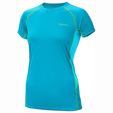 On Sale. Marmot Women's Lightweight Crew SS DECENT FEATURES of the Marmot Women's Lightweight Crew Short Sleeve Polartec Power Dry with Cocona Performance Technology Marmot UpCycle Product with Recycled Polyester Cocona for Natural Odor Protection Quick-Drying and Wicking Stretch for Increased range of motion Flat-Locked Seams for Added Comfort Mesh Panels for Increased Mobility Tag-Free Neckline The SPECS Weight: 4 oz / 113.4 g Material: PolartecPower Dry 100% Polyester (29% Cocona) Light Weight 3.5 oz/yd Center Back Length: 26.5in. Fit: Athletic - $24.99