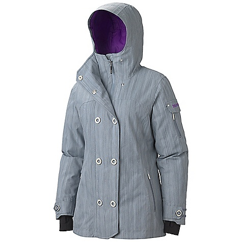 On Sale. Free Shipping. Marmot Women's Lone Tree Jacket DECENT FEATURES of the Marmot Women's Lone Tree Jacket Marmot MemBrain Waterproof/Breathable Fabric 100% seam taped 2-layer construction Attached Storm Hood with Laminated Brim Thermal R Insulation Sleeve Pocket with Water-Resistant Zipper Handwarmer Pockets with Water Resistant Zipper Powder Skirt Zippered Sunglass Pocket Internal Media pocket Goggle pocket HD Brushed Tricot Collar Lining Internal Lycra Cuffs with Thumbholes Adjustable Velcro Cuffs Elastic Draw Cord Hem Angel-Wing Movement The SPECS Weight: 2lbs 1.9 oz / 961 g Material: MemBrain 10 2L 100% Nylon Dobby 4.7 oz/yd Fit: Regular - $172.99