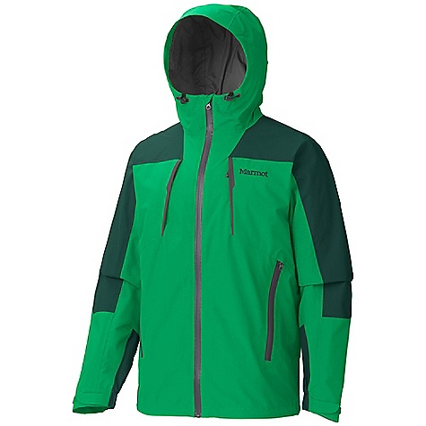 Free Shipping. Marmot Men's Conness Jacket DECENT FEATURES of the Marmot Men's Conness Jacket Marmot MemBrain Waterproof/Breathable Fabric Micro-stitched and 100% seam taped 2-Layer construction Attached Storm Hood with Laminated Brim Pit Zips Water-Resistant CF Zipper Zippered Chest Pockets Hand warmer Pockets with Water Resistant Zipper Adjustable Velcro Cuff Zip-off Powder Skirt Internal Zip Pocket Interior Mesh Storage Pocket Elastic Draw Cord Hem Angel-Wing Movement The SPECS Weight: 2 lbs 0.1 oz / 910 g Material: MemBrain 2L 100% Nylon Plain Weave 4.4 oz/yd Center Back Length: 29in. Fit: Regular - $280.00
