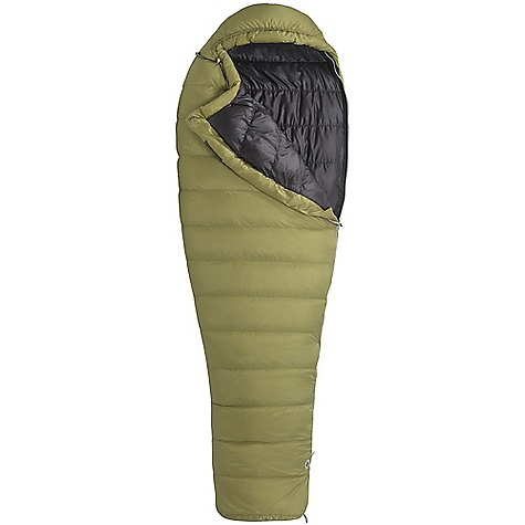 Camp and Hike Free Shipping. Marmot Hydrogen 30 Degree Sleeping Bag DECENT FEATURES of the Marmot Hydrogen 30 Degree Sleeping Bag Filled and Finished in Santa Rosa, California Certified 850+ Fill Power Goose Down EN Tested Pertex Microlight Shell and Lining Fabric Full baffle construction Nautilus 6-Baffle Hood Classic Trapezoidal Foot Box Insulated Draft Tube Stretch Tricot Baffles Full Length Zipper Zipper Garage Hood Draw Cord Velcro-free Face Muff Zipper Guards Stuff and Storage Sack Included The SPECS Temperature Rating: 30deg F / -1deg C EN Tested Comfort: 39.2deg F / 4deg C EN Tested Lower Limit: 29.8deg F / -1.2deg C EN Tested Extreme: 1deg F / -17.2deg C Zip Option: Left Zip Fill: 850+ Fill Power Goose Down Insulation: 850+ Fill Power Goose Down Lining: 20 Denier 100% Recycled Polyester Mini Ripstop DWR 1.0 oz/yd 20 Denier 100% Nylon Mini Ripstop DWR 1.1 oz/yd The SPECS for Regular Weight:1 lb 8.77 oz / 702 g Length: 6'0in. The SPECS for Long Weight:1 lb 12 oz / 794 g - $348.95