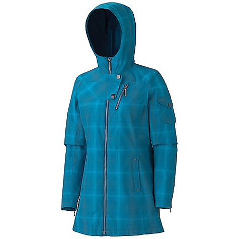 Free Shipping. Marmot Women's Samantha Jacket DECENT FEATURES of the Marmot Women's Samantha Jacket Marmot MemBrain Waterproof/Breathable Fabric 100% Seam Taped Attached Adjustable Hood Zippered Chest Pocket Zippered Hand Pockets Snap Flap Sleeve Pocket Zippered Cuffs The SPECS Weight: 1 lb 2.3 oz / 518.8 g Center Back Length: 30.5in. MemBrain 10 2L 100% Nylon Savvy Plaid 3.3 oz/yd - $224.95
