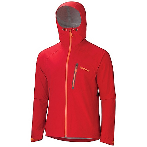 Free Shipping. Marmot Men's Hyper Jacket DECENT FEATURES of the Marmot Men's Hyper Jacket Marmot MemBrain 2.5 Strata Waterproof/Breathable Fabric 100% Seam Taped 4-Way Stretch Fabric Allows for Stretch Articulation Attached Hood with ERG Adjustment System Water-Resistant CF Zipper Chest Pocket with Water Resistant Zip Hand Pockets with Concealed Zippers Asymmetric Cuffs with Velcro Adjustment Reflective Logos Elastic Draw Cord Hem Angel-Wing Movement The SPECS Weight: 12 oz / 340.2 g Material: MemBrain Strata 100% Nylon Plain Weave Stretch 2.3 oz/yd Center Back Length: 29in. Fit: Athletic - $209.95
