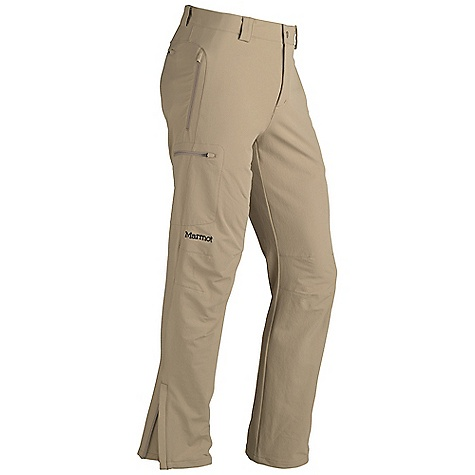 Free Shipping. Marmot Men's Scree Pant FEATURES of the Marmot Men's Scree Pant Marmot M3 Softshell Water Repellent and Breathable Zippered Hand Pockets Zippered Back Pocket Zippered Cargo Pocket Snap Closure and Zip Fly Articulated Knees Ankle Zippers Belt Loops Back Zip Pocket Zippered Thigh Pocket Elastic Waist with Snap Closure and Zip Fly - $109.95