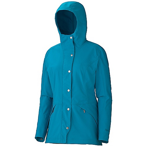 Free Shipping. Marmot Women's Eclipse Jacket DECENT FEATURES of the Marmot Women's Eclipse Jacket Marmot M3 Softshell Water Repellent and Breathable Attached Adjustable Hood Zippered Hand Pockets Snap Cuffs The SPECS Weight: 1 lb 1.2 oz / 487.6 g Material: Softshell Double Weave 88% Polyester 12% Elastane Stretch 6.6 oz/yd Center Back Length: 29in. Fit: Regular - $149.95