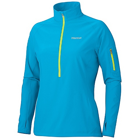 Free Shipping. Marmot Women's Stretch Light 1-2 Zip DECENT FEATURES of the Marmot Women's Stretch Light 1/2 Zip Marmot M3 Softshell Wind Resistant, Water Repellent, and Breathable 4-Way Stretch Fabric Zippered Sleeve Pocket Elastic Bound Cuffs with Thumb Holes 360 Reflectivity Elastic Draw Cord Hem The SPECS Weight: 6.9 oz / 195.6 g Center Back Length: 26in. Fit: Athletic 86% Polyester 14% Elastane 4.0 oz/yd - $94.95