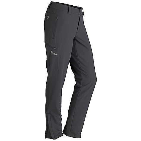 Free Shipping. Marmot Women's Scree Pant DECENT FEATURES of the Marmot Women's Scree Pant Marmot M3 Softshell Water Repellent and Breathable Zippered Hand Pockets Zippered Cargo Pocket Snap Closure and Zip Fly Articulated Knees Ankle Zippers Belt Loops The SPECS Weight: 15.2 oz / 430.9 g Material: Softshell Double Weave 90% Nylon 10% Elastane Stretch 6.3 oz/yd Fit: Regular Inseam: short: 30in., regular: 32in., long: 34in. - $109.95