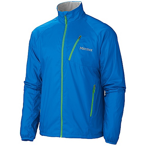 Features of the Marmot Men's Stride Jacket Wind Resistant, Water Repellent, and Breathable DriClime Bi-Component Wicking lining Zippered hand Pockets Zippered Chest Pocket with headphone Port Mesh Vents Collar with Adjustment Cord Elastic Cuffs 360 Reflectivity Elastic Drawcord hem - $62.99