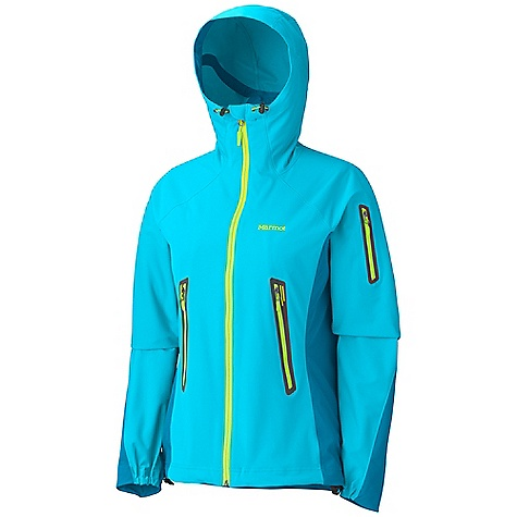 Camp and Hike Free Shipping. Marmot Women's Vapor Trail Hoody DECENT FEATURES of the Marmot Women's Vapor Trail Hoody Marmot M2 Softshell Water Repellent and Breathable Attached Adjustable Hood Windproof Body and Sleeve Fabric with Wicking Backer Fabric Breathable Side Panels and Back Pack Pockets Zippered Sleeve Pocket Asymmetric Cuffs Interior Zipper Pocket with Headphone Port Elastic Draw Cord Hem Angel-Wing Movement The SPECS Weight: 12.7 oz / 360 g Material: WP Softshell 79% Polyester, 21% PU Stretch with DriClime Technology 3.4 oz/yd 86% Polyester, 14% Elastane 4.0 oz/yd Center Back Length: 26.25in. Fit: Athletic - $149.95