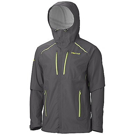 Free Shipping. Marmot Men's Interfuse Jacket DECENT FEATURES of the Marmot Men's Interfuse Jacket Marmot MemBrain FusionDri Highly Breathability Waterproof Fabric 100% Seam Taped Stretch Fabric Attached Adjustable Hood with Reinforced Laminated Wire Brim PitZips with Water Resistant Zippers Napoleon Chest Pockets with Water Resistant Zips Hand Pockets with Water Resistant Zipper Asymmetric Cuffs with Velcro Adjustment Elastic Draw Cord Hem Angel-Wing Movement The SPECS Weight: 1 lb 0.6 oz / 470.6 g Material: MemBrain FusionDri 100% Nylon Plain Weave Stretch 3L 4.0 oz/yd Center Back Length: 30in. Fit: Athletic - $349.95