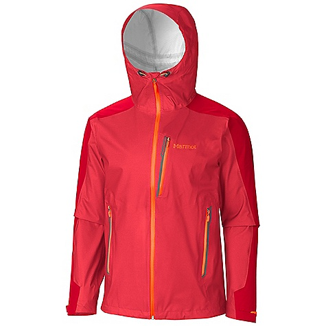 Free Shipping. Marmot Men's Speedri Jacket DECENT FEATURES of the Marmot Men's Speedri Jacket Marmot MemBrain FusionDri Highly Breathability Waterproof Fabric 100% Seam Taped 15 Denier Stretch Fabric Attached Adjustable Hood with Reinforced Laminated Wire Brim Chest Pockets with Water Resistant Zips Hand Pockets with Water Resistant Zipper Integrated Cooling Vents Asymmetric Cuffs with Velcro Adjustment Elastic Draw Cord Hem Angel-Wing Movement The SPECS Weight: 13.9 oz / 394.1 g Material: MemBrain FusionDri 100% Nylon Ripstop Stretch 3L 2.8 oz/yd Center Back Length: 28.75in. Fit: Athletic - $359.95
