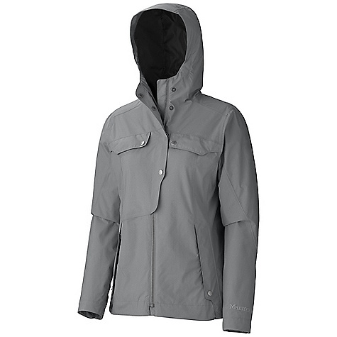 Free Shipping. Marmot Women's Ashton Jacket DECENT FEATURES of the Marmot Women's Ashton Jacket Marmot MemBrain Waterproof/Breathable Fabric 100% Seam Taped Attached Hood Chest Pockets with Snap Flap Closures Zippered Hand Pockets Adjustable Snap Cuffs The SPECS Weight: 13.4 oz / 379.9 g Material: MemBrain10 2L 100% Nylon 2.9 oz/yd Center Back Length: 25.25in. Fit: Regular - $174.95