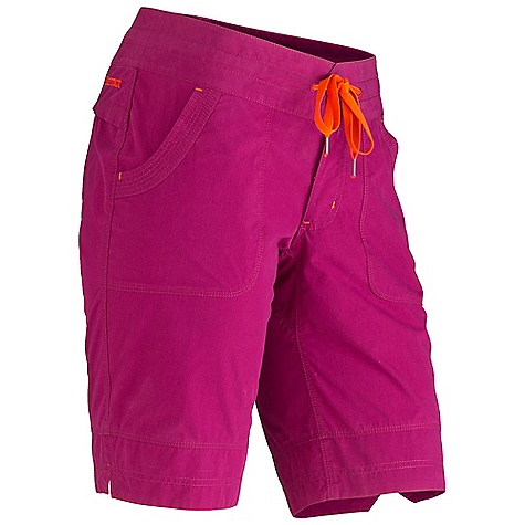Free Shipping. Marmot Women's Lexi Short DECENT FEATURES of the Marmot Women's Lexi Short Soft, Comfortable, Lightweight Peached Woven Fabric Ultraviolet Protection Factor (UPF) 30 Nylon for Durability Inseam Gusset Panel Button Closure Waist with Drawcord for Added Adjustability Back Yoke Panel with Mesh for Ventilation Velcro Closure Back Pockets Garment Washed for Soft Hand The SPECS Weight: 6.3 oz / 178.6 g Material: 67% Cotton, 33% Nylon Canvas 3.4 oz/yd Fit: Regular Inseam: 10.5in. - $64.95