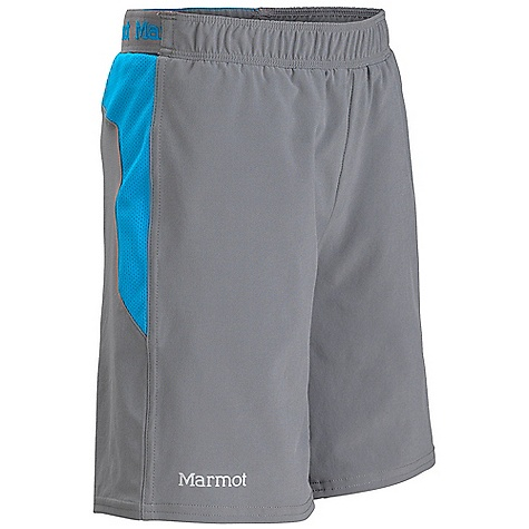 Marmot Boys' Ascend Short DECENT FEATURES of the Marmot Boys' Ascend Short Light Weight, Breathable, Stretch Woven Performance Fabric Ultraviolet Protection Factor (UPF) 30 Compression Fit Interior Brief Quick-Drying and Wicking Stretch for Increased Mobility Mesh Panels for Increased Breath ability Elastic waist with Internal Drawcord for Adjustability 2 Front Hand Pockets with Zipper Secure Back Pocket Reflective Logos The SPECS Weight: 4.6 oz / 130.4 g Material: 86% Polyester, 14% Elastane Plain Weave 3.6 oz/yd 100% Polyester Mesh 5 oz/yd Fit: Regular Inseam: 4in. - $34.95