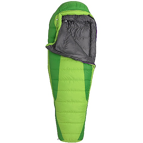Camp and Hike Free Shipping. Marmot Women's Angel Fire Sleeping Bag DECENT FEATURES of the Marmot Women's Angel Fire Sleeping Bag Certified 650 Fill Power Down EN Tested Women's Specific Fit - More Insulation in Key Areas Downfilled Collar with Easy Access Draw Cord Heat Bump Draft Tube Classic Trapezoidal Foot Box in.Feelyin. Draw Cords Ground-Level Side Seams Heater Pocket in Foot Box Hood Draw Cord Locking Zippers Nautilus 5-Baffle Hood Stash Pocket Stretch Tricot Baffles Stuff and Storage Sack Included Two Hang Loops Two Way Zipper Sliders Velcro-free Face Muff Zipper Guards The SPECS Temperature Rating: 25deg F / -4deg C EN Tested Comfort: 26.1deg F / -3.3deg C EN Tested Lower Limit: 14.5deg F / -9.7deg C EN Tested Extreme: -19.1deg F / -28.4deg C Zip Option: Left Zip, Right Zip Fill: 650 Fill Power Down Insulation: 650 Fill Power Down Lining: 100% Nylon Plain Weave WR 1.3 oz/yd 100% Nylon Ripstop AC 1.3 oz/yd 100% Nylon WR 1.4 oz/yd The SPECS for Regular Weight: 2 lbs 15.63 oz / 1350 g Length: 5'6in. The SPECS for Long Weight: 3 lbs 3 oz / 1446 g - $228.95