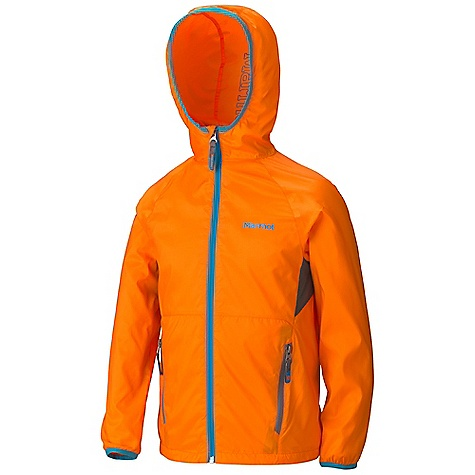 Free Shipping. Marmot Boys' Ether Hoody DECENT FEATURES of the Marmot Boys' Ether Hoody Wind Resistant, Water Repellent, and Breathable Ultra Light Construction DriClime Bi- Component Wicking Lining Attached Roll-Up Hood Zip Chest Pocket Packs into Pocket Mesh Underarm Vents Elastic Cuffs Reflective Logos Angel-Wing Movement The SPECS Weight: 5.3 oz / 150.3 g Material: 100% Polyester DWR 1.5 oz/yd Center Back Length: 20.5in. Fit: Regular - $57.95