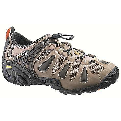Camp and Hike On Sale. Free Shipping. Merrell Men's Chameleon 3 Stretch Shoe DECENT FEATURES of the Merrell Men's Chameleon 3 Stretch Shoes Strobel construction offers flexibility and comfort Nubuck leather and mesh upper Lycra/neoprene stretch collar for easy on and off External instep and heel stability arm Elastic cord and lock lacing system for quick secure fit Breathable mesh lining treated with Aegis antimicrobial solution resists odor Ortholite anatomical footbed Molded nylon arch shank Merrell In-Board compression molded EVA footframe provides cushioning Merrell air cushion in the heel absorbs shock and adds stability 4mm sole lug depth sole lug depth Vibram Chameleon3 Sole/TC5+ Rubber Weight: 2 lbs / 1 oz - $99.99