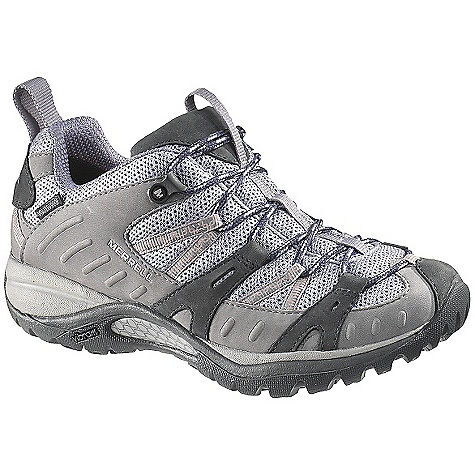 Camp and Hike On Sale. Free Shipping. Merrell Women's Siren Sport Waterproof Shoe DECENT FEATURES of the Merrell Women's Siren Sport Waterproof Shoe Strobel construction offers flexibility and comfort Synthetic leather and mesh upper Bellows tongue keeps debris out Waterproof membrane provides an impermeable but breathable barrier Lining treated with Aegis antimicrobial solution resists odor Ortholite anatomical footbed Molded nylon arch shank Merrell QForm Comfort midsole provides women's specific stride-sequenced cushioning Merrell air cushion in the heel absorbs shock and adds stability 5 mm sole lug depth Vibram Siren Song Sole/TC5+ Rubber Weight: 1 lb / 7 oz - $79.99
